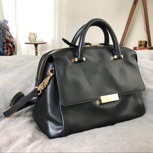 Henri Bendel Italian leather satchel